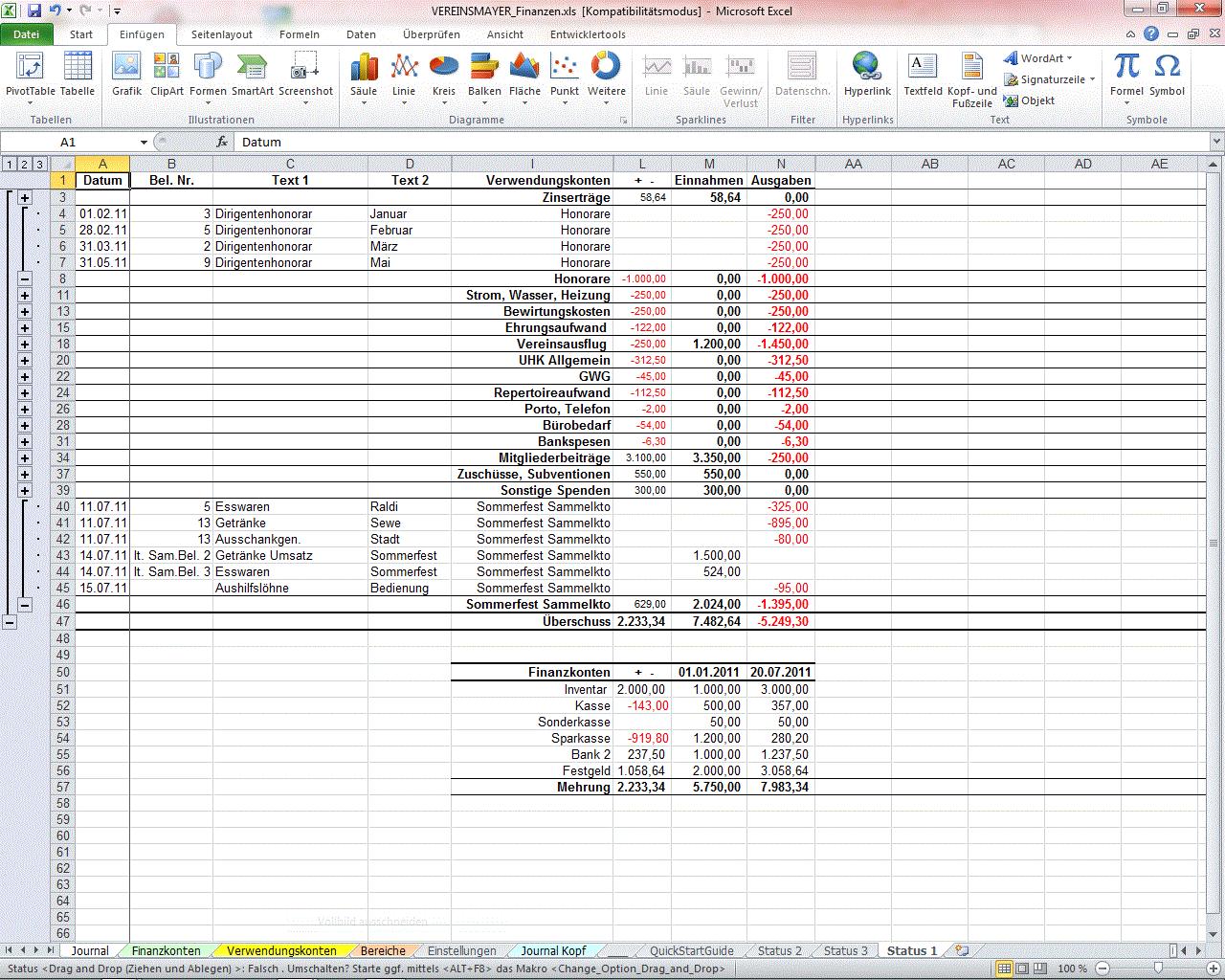 Ziemlich Monatliche Ausgaben Vorlage Excel Galerie - Entry Level ...